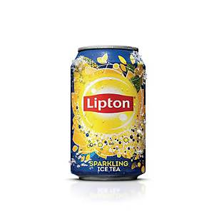 Soda Lipton Ice Tea, le paquet de 24 canettes de 33 cl