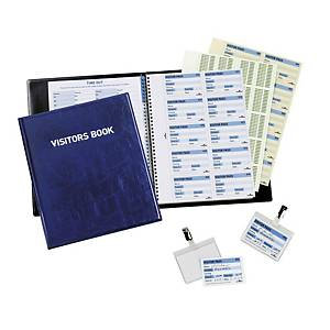 Durable Visitors Book With 100 Perforated Badge Inserts