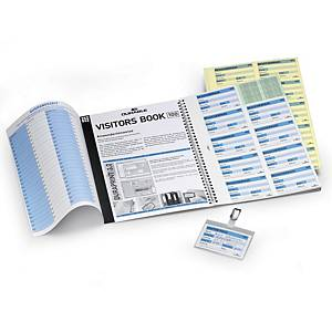 Durable 1464 navulling Visitors Book, 100 badges