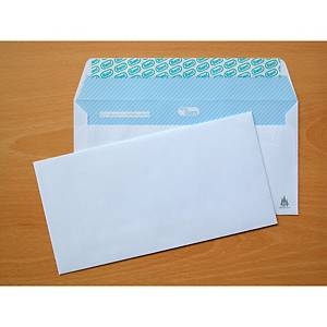 Caixa 500 envelopes americanos - 115 x 225 mm - banda adesiva