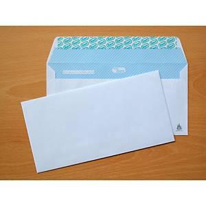 Caja de 500 sobres americanos - 115 x 225 mm - banda adhesiva