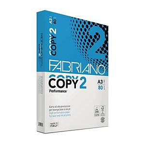 Carta bianca Fabriano Copy 2 A3 80 g/mq - risma 500 fogli