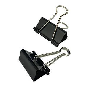 黑色回尾夾 1.625吋 - 每盒12個