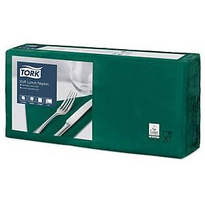 Servietten Tork 477413, Maße: 33 x 33cm, 3-lagig, grün, 150 Stück