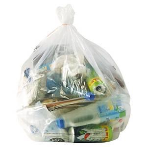 Sac poubelle - 110 L - 36 microns - transparent - 250 sacs