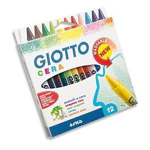 Pastelli a cera tondi Giotto colori assortiti - conf. 12