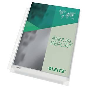 Pochette perforée à soufflet Leitz Premium, A4, PVC 170 microns, les 5 pièces