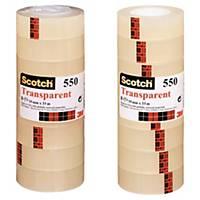 3M Scotch 550 transparente Klebefilme, Packung mit 8 Stück