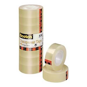 3M Scotch 550 tape 19 mm x 33 m transparent - pack of 8