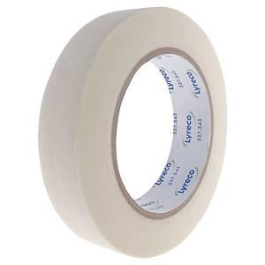 Krepová maskovací lepicí páska Lyreco, 25 mm x 50 m