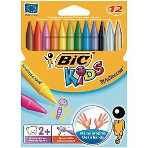 Bic Kids Plastidecor pastels couleur assorti - la boîte de 12