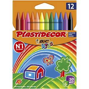 Pack de 12 ceras Bic plastidecor - colores surtidos