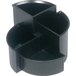 Multi-Köcher Helit, 4-Fächer, schwarz
