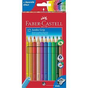 Farveblyanter Faber-Castell Grip jumbo, akvarel, pakke a 12 stk.