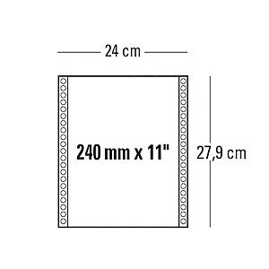 Moduli continui 240mm x 11   a 1 copia 70 g/mq grigio - conf. 2000