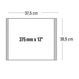 Moduli continui 375 mm x 12   a 1 copia 60 g/mq grigio - conf. 2000