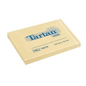 Haftnotizen Tartan 010276, 102 x 76 mm, 100 Blatt, gelb