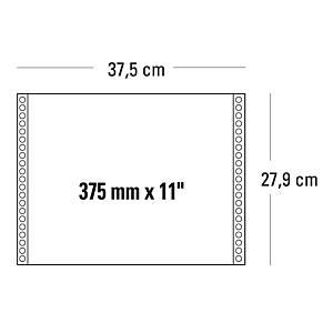 Moduli continui 375 mm x 11   a 3 copie 55 g/mq grigio - conf. 750