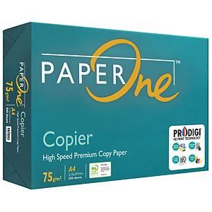 Paperone Copier A4 Paper 75gsm White - Box of 5 Reams (5 X 500 Sheets)