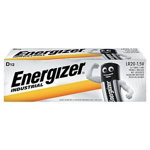Batérie Energizer Industrial, D/LR20, alkalické, 12 kusov v balení
