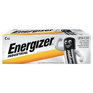 Baterie Industrial, alkalické typ C, 12 kusů