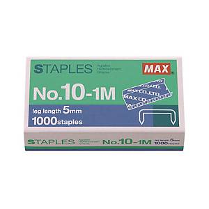 MAX No.10 (10-1M) Staples - Box of 1000