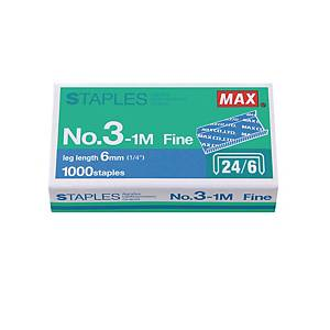 MAX No.24/6 (3-1M) Staples - Box of 1000