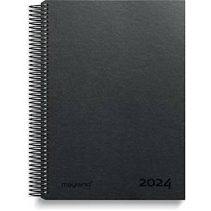 Kalender Mayland 2181 00, dag/time, 2020, fiberpap, sort
