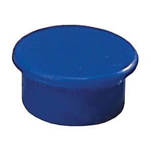 Magnet Dahle, rund, 13 mm, blå, pakke a 10 stk.