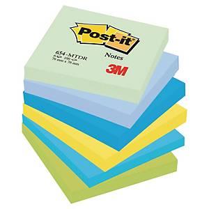 Foglietti Post-it® adesivo standard kit 6 blocchetti 76x76mm colori dream