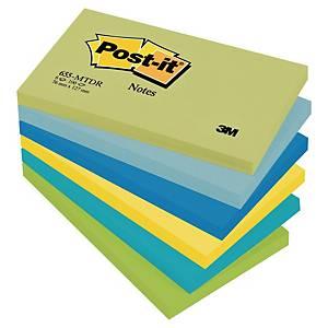 Post-it Notes, 76 x 127 mm, neon, pakke a 6 blokke