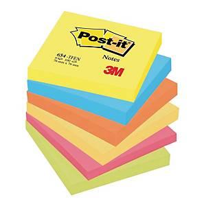 Karteczki samoprzylepne Post-it® w energetycznych kolorach, 76x76mm, 6 bloczków