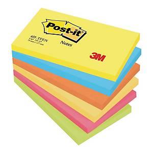 Karteczki samoprzylepne Post-it® w energetycznych kolorach, 76x127mm, 6 bloczków