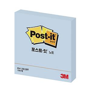 POS IT 654 B PASTEL NOTE 76X76 BLUE