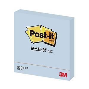 3M 포스트잇 노트 654 76×76 크림블루