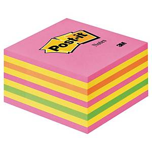 Post-It Note Cube Neon Pink 450 Sheets