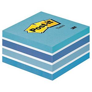 Kubusblok Post-it, 76 x 76 mm, pastelblå