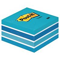 Cubo de 450 notas adesivas Post-it - azul pastel - 76x76mm