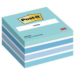 Samolepiace bločky v kocke 3M Post-it® 2028, 76x76mm, modrá, bal. 450 lístkov