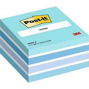 Cubo de 450 notas adhesivas Post-it - azul pastel - 76x76mm