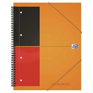 Oxford International Meetingbook spiraalschrift A4+, gelijnd, 80 vellen