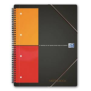 Notesbog Oxford International Meetingbook, A4, ternet, 80 ark, 80 g