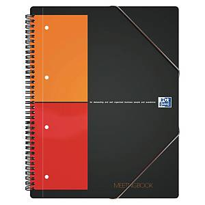 Oxford International Meetingbook spiraalschrift A4+, geruit 5 x 5 mm, 80 vellen