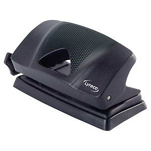 Lyreco 2 Hole Paper Punch Black - 10 Sheet Capacity