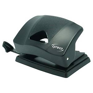 Lyreco Light Hole Punch 2-Hole 20-Sheet Black