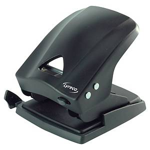 Lyreco 2 Hole Paper Punch Black - 40 Sheet Capacity