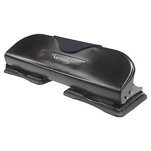 Lyreco 4-Hole Puncher Black- 15 Sheets Capacity