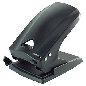 Lyreco Heavy Duty 2 Hole Paper Punch Black - 70 Sheet Capacity