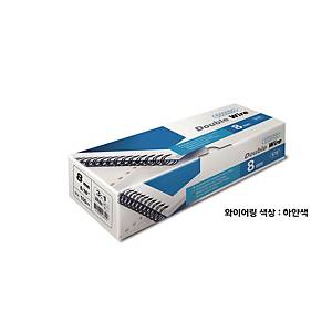 PK100 ACCO WIRES 8MM WHITE