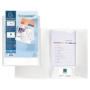 Presentationsmapp Exacompta Kreacover, A4-format, vit, förp. med 10st.